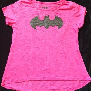 Other - Cute bright pink Batman Tee